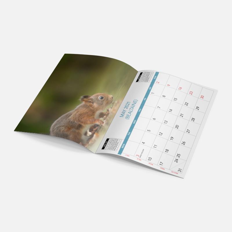 Saddle Stitch A4 Calendars