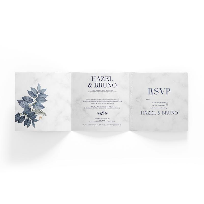 Wedding Invitation Square Trifold
